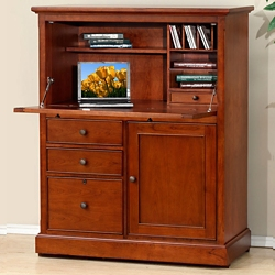 """Drop Front Computer Armoire - 41""""W, 10719"""