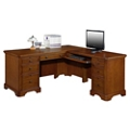 "Double Pedestal L-Desk - 66""W, 10201"