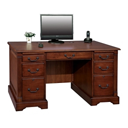 "Compact Double Pedestal Desk - 57""W, 10204"