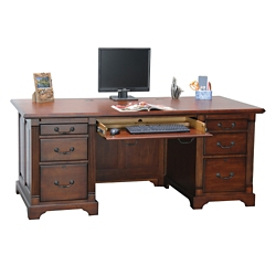 "Double Pedestal Executive Desk - 72""W, 10206"