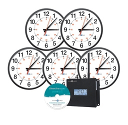 """Synchronized Clocks Set of Five with Second Hand 13"""", 82785"""