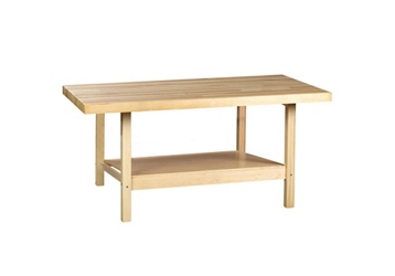 """Two Person Maple Workbench with Two Vices - 28"""" x 64"""", 92175"""