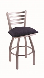 "Fabric or Vinyl Big & Tall Stool with Steel Frame - 30""H Swivel Seat, 57205"