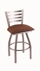 "Faux Leather or Vinyl Big & Tall Stool with Steel Frame - 36""H Swivel Seat, 57210"