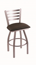 "Faux Leather or Vinyl Big & Tall Stool with Steel Frame - 25""H Swivel Seat, 57206"