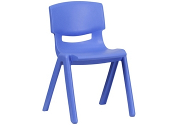 "Plastic 13.25""H Armless Stack Chair, 51689"