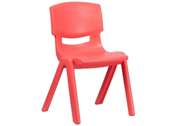 "Plastic 15.5""H Armless Stack Chair, 51690"