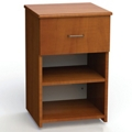 "One Drawer and One Open Shelf Bedside Cabinet - 19""W, 26595"