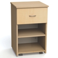 "One Drawer and One Open Shelf Bedside Cabinet - 19""W, 26615"