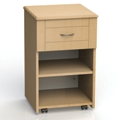 "One Drawer and One Open Shelf Bedside Cabinet - 19""W, 26599"