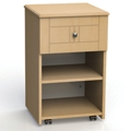 "One Drawer and One Open Shelf Bedside Cabinet - 19""W, 26611"