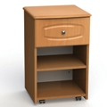 "One Drawer and One Open Shelf Bedside Cabinet - 19""W, 26603"