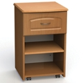 "One Drawer and One Open Shelf Bedside Cabinet - 19""W, 26607"