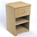 "One Drawer and One Open Shelf Bedside Cabinet - 19""W, 26619"