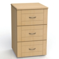 "Three Drawer Bedside Cabinet - 19""W, 26596"