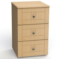 "Three Drawer Bedside Cabinet - 19""W, 26608"