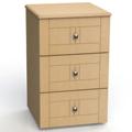 "Three Drawer Bedside Cabinet - 19""W, 26608"