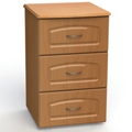 "Three Drawer Bedside Cabinet - 19""W, 26604"