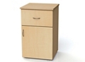 "One Drawer and One Right Door Bedside Cabinet - 19""W, 26614"
