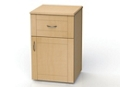 "One Drawer and One Right Door Bedside Cabinet - 19""W, 26598"