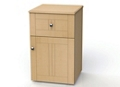 "One Drawer and One Right Door Bedside Cabinet - 19""W, 26610"