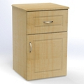 "One Drawer and One Right Door Bedside Cabinet - 19""W, 26618"