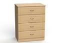 """Four Drawer Dresser - 32""""W, 26581"""