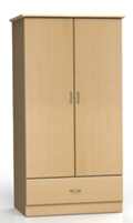 "Two Door and One Drawer Wardrobe Cabinet - 72""H , 26561"
