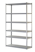 "Boltless Six Shelf Steel Shelving 48"" W x 18"" D x 86"" H, 37032"