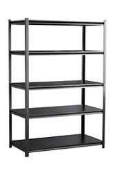 "Boltless Five Shelf Steel Shelving 48"" W x 24"" D x 72"" H, 37030"