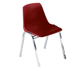 Armless Polypropylene Stack Chair with Chrome Frame, 44197