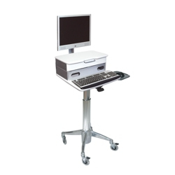 """20""""W x 23""""D Flat Panel Cart wtih Medical Drawer, 25384"""