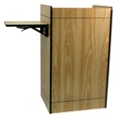 Storage Lectern with Side Shelf, 43301