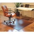 "Eco-Friendly Bamboo Wood Chair Mat with Lip - 55"" x 57"" x 5mm Thick, 54240"