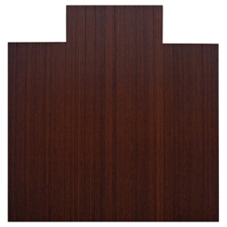 """Eco-Friendly Bamboo Wood Chair Mat with Lip - 55"""" x 57"""" x 5mm Thick, 54240"""
