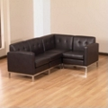 Faux Leather L-Sofa, 75353
