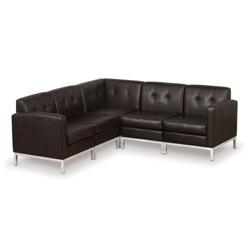 Faux Leather Corner Sofa 75424