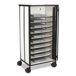 "10 Laptop Mobile Charging Cart- 51"" H, 60987"