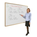 4' x 4' Wood Frame Porcelain Whiteboard, 80253
