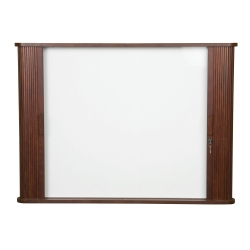 Enclosed Whiteboard Cabinet with Tambour Doors, 80261