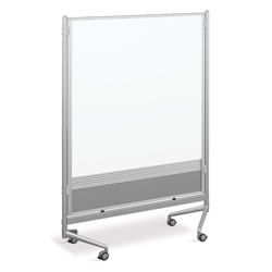 4'W x 6'H Dual Sided Mobile Whiteboard/Corkboard, 80295