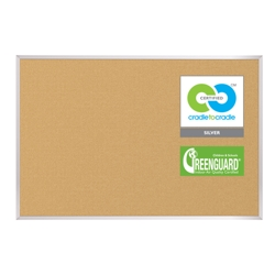8'W x 4'H Eco-Friendly Cork Board, 80305