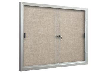 Rubber or Vinyl Announcement Board with Sliding Glass Doors - 8ft x 4ft, 80673
