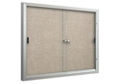 Sliding-Door Bulletin Board 4'W x 3'H, 80914