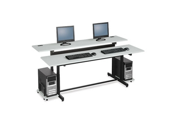 "72"" Wide Split-Level Computer Table, 14819"