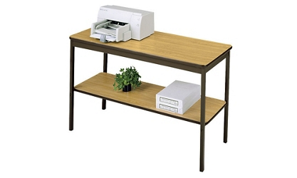 "Utility Table 18"" wide x 48"" long with Shelf, 46590"