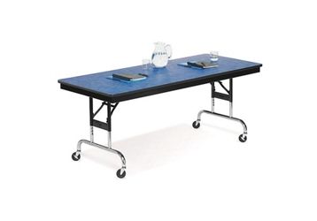 "Height Adjustable Mobile Folding Table- 18""Wx72""D, 41049"