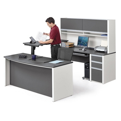 Great Executive U Desk With Adjustable Height Bridge, 14792