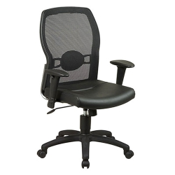 Mesh Back Executive Chair with Leather Seat, 50658