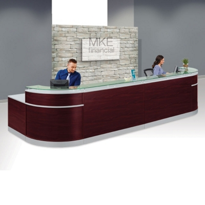 Office receptionist desk Dentist Esquire Double Glass Top Reception Desk 189 National Business Furniture Reception Desk Shop All Receptionist Desks Nbfcom